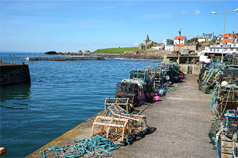The harbour at St Monans